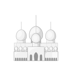 Mosque in UAE icon black monochrome style vector image