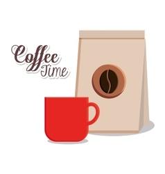 Mug and bag of Coffee shop design vector