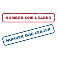 Number One Leader Rubber Stamps vector