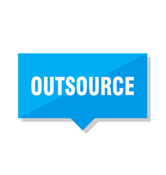 Outsource price tag vector