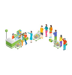 pay in store 3d isometric view vector image