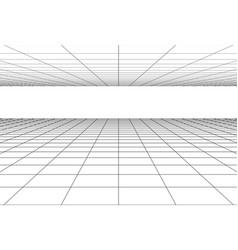 Perspective grid floor background vector