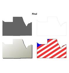 Pinal County Arizona outline map set vector