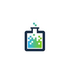 pixel science lab logo icon design vector image