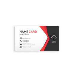 red modern business name card image vector image