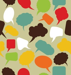 Retro speak bubbles vector