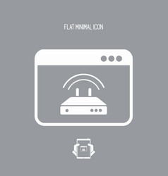 router setting window - flat minimal icon vector image