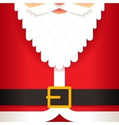 Santa Claus beard belt greating card template flat vector image