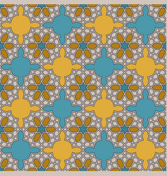 seamless pattern in moroccan style vector image