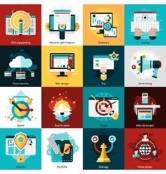 Seo Development Icons vector
