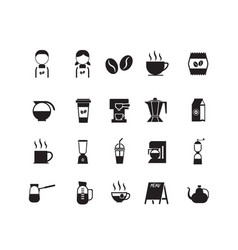 set of coffee shop icon symbol vector image