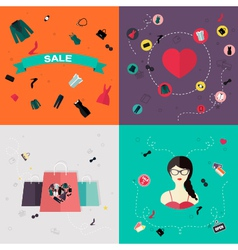 Set of flat design concept vector image