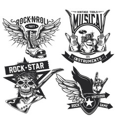 set rock elements vector image