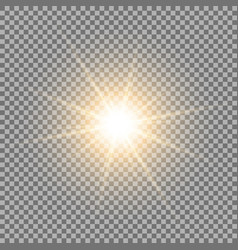 shining star on transparent background golden vector image