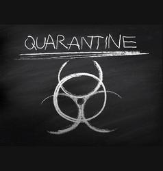 sign symbol quarantine zone area stop novel vector image