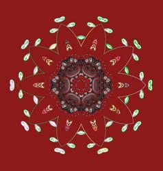 Snowflakes icon in doodle sketch lines winter vector