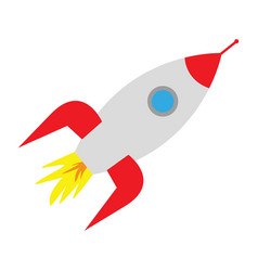 Space rocket on white background vector