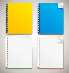 Spiral Ring Notebooks vector image
