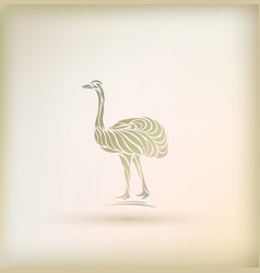 Stylish greeting card with bird vector