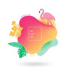 summer banner template tropical liquid geometric vector image