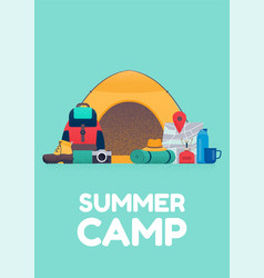 summer camp banner vector image