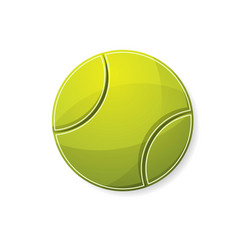 tennis yellow symbol vector image
