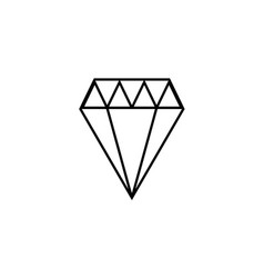 Thin line diamond icon vector