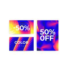 Universal gradient geometric posters set vector