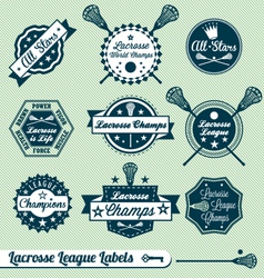 Vintage Lacrosse Labels vector