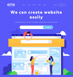 Web site design template landing page vector