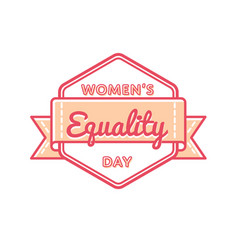 Womens equality day greeting emblem vector