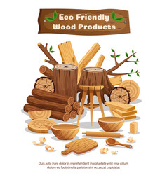 wood industry production poster vector image
