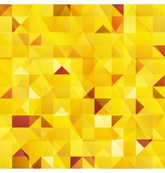 Yellow abstract triangles seamless pattern vector image