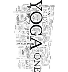 yoga products text word cloud concept vector image
