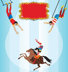circus flying trapeze vector image