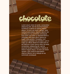 Desserts and sweet products poster vector