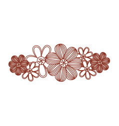 minimalistic background with floral design vector image vector image