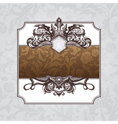 royal ornate vintage frame vector image vector image