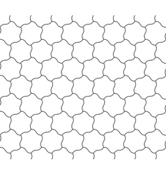 Seamless background of curved hexagons vector image