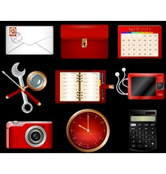 Collection of luxury icons vector image
