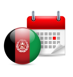 Icon of National Day in Afghanistan vector image vector image