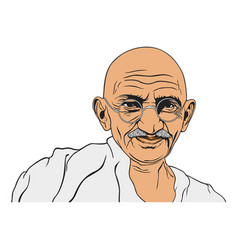 mahatma gandhi portrait vector image vector image