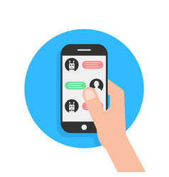 messages with chatbot in phone vector image vector image