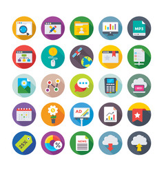 seo and digital marketing icons 11 vector image