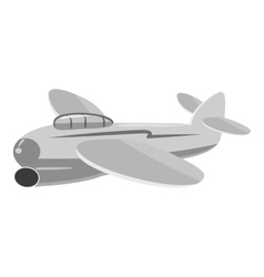 Small plane icon gray monochrome style vector image vector image
