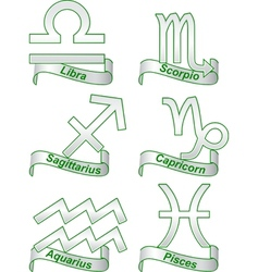 Zodiac signs on a white background vector image