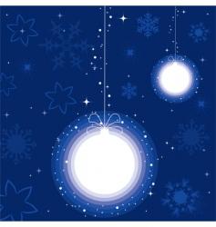 a ball for Christmas tree vector image