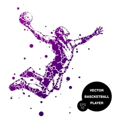 abstract basketball player in jump vector image