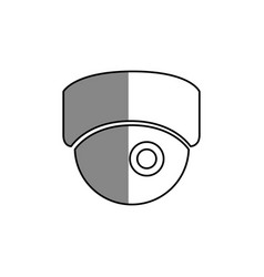 cctv camera isolated icon vector image
