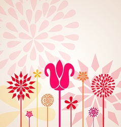 Decorative Floral Design vector image vector image